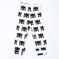Kid's Batman Print Cotton Harem Leggings