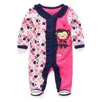 Newborn 1 Piece assorted Print Outfit - 0To 12M (16 Colors)