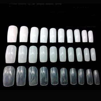 100Pcs Nail Art Full Cover False Nails Tips Fake Nails French Manicure Artificial Nails Beauty Products