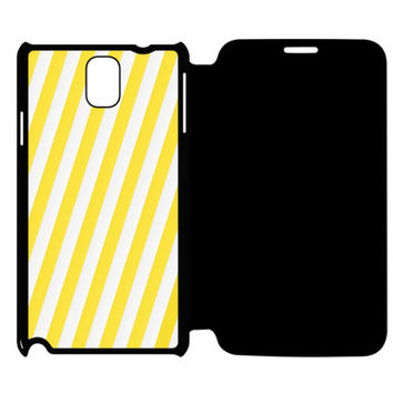 Yellow stripe Samsung Galaxy Note 4 Flip Case Cover