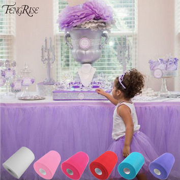 FENGRISE Tulle Roll 15cm 100 Yards Roll Fabric Spool Tutu Party Gift Wrap Wedding Birthday Decoration Decorative Crafts Supplies