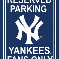 MLB New York Yankees Plastic Parking Sign