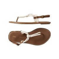 T-strap rope sandals