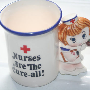 Vintage Nurse mug,Collectible Nurse's Cup