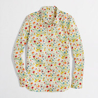 Factory classic button-down in printed cotton
