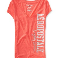 Vertical Aero V-Neck Graphic T - Aeropostale
