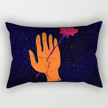 Wounded Hand // Space Rectangular Pillow by Ducky B