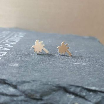 Palm Tree Earrings-FT51