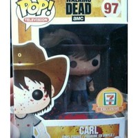 Funko pop! 7-11 exclusive the walking dead #97 carl grimes blood splatter