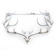 Supermarket: Deer Statement Necklace (White) from Smashing Designs