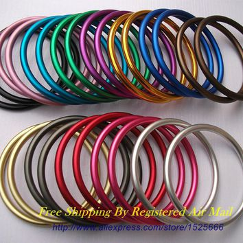 "Free Shipping 40pcs/20pairs 3"" Large Size Multiple Colors Available Sling Rings Aluminum DIY Your Baby Carrying Sling"