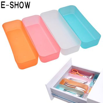 E-SHOW 3 Sizes Adjustable Drawer Organizer Makeup Storage Box Jewelry Divider For DIY Home Kitchen Clear Tools New Arrival