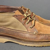 Red Wing® 9185 Wabasha Chukka Brown Canvas Leather Boots Men's Size 10