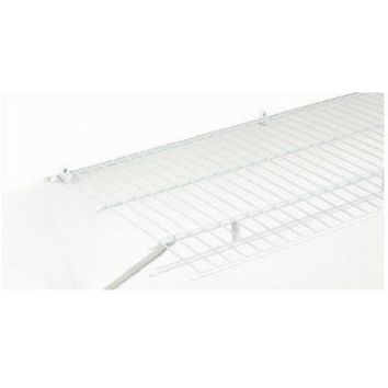 ClosetMaid® 3730500 Vinyl Coated Steel Shelf/Rod Wire Shelving, White, 12' x 16""
