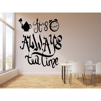 Vinyl Wall Decal Dining Room Kitchen Decor Tea Time Stickers Mural (g2491)