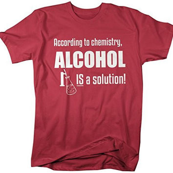 Shirts By Sarah Men's Funny Chemistry Alcohol T-Shirt Solution Chemist Tee
