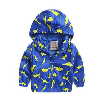 Yellow Blue Dinosaur Kid Child Baby Toddler Winter Snow Coat