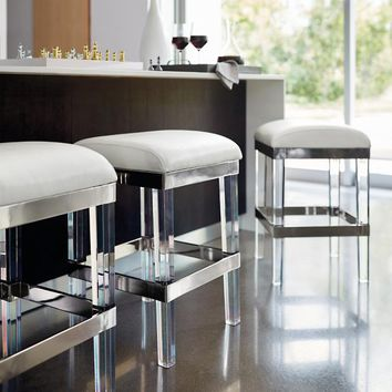 Fulham Acrylic Backless Bar Stool | Frontgate