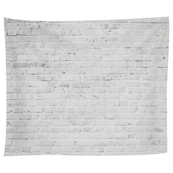 White Washed Brick Tapestry