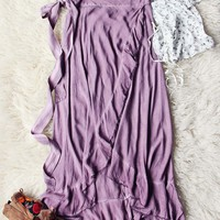 Mineral Wrap Maxi Skirt in Mauve