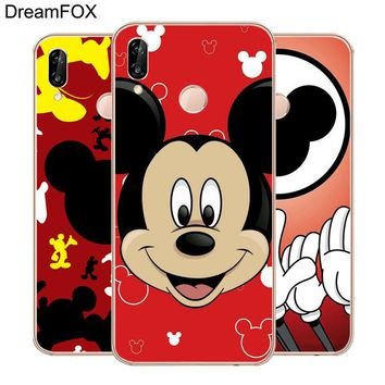 DREAMFOX L439 Mickey Mouse Minnie Pop Art Soft TPU Silicone  Case Cover For Huawei Honor 6A 6C 7X 9 10 P20 Lite Pro P Smart