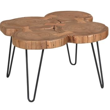 Adele Wood and Iron Coffee Table by Moes Home Collection