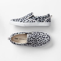 Gap Girls Animal Print Slip On Sneakers