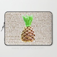 Psych Laptop Sleeve Case Macbook Computer iPad Funny Show Fan PC Pop Art Gift Unique For Tablet Fandom Nicknames Shawn Gus Pineapple Humor