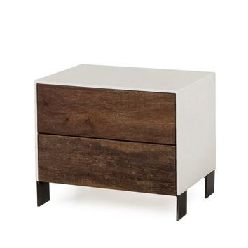 GIALLO NIGHTSTAND - 2 DRAWER / WHITE