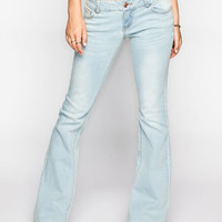 Celebirty Pink Womens Flare Jeans Light Blast  In Sizes