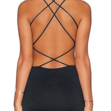 Strappy Nightclubs Party Bodycon Dress 9769