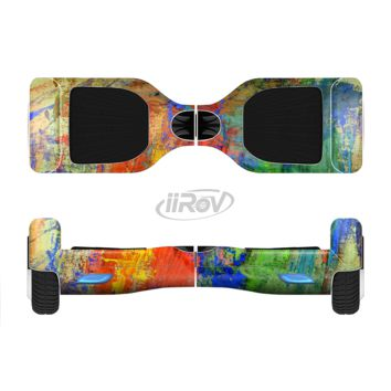 The Abstract Bright Primary and Secondary Colored Oil Painting Full Body Skin Set for the Smart Drifting SuperCharged Transportation iiRov