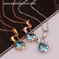 Popular New Style Exquisite Inlay Sapphire Bottle Bottle Jewelry Crystal Pendants