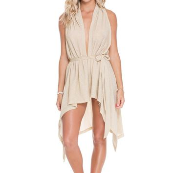 Luli Fama Gold Rush Beach Wrap Vest