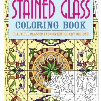 Stained Glass Coloring Book CLR CSM