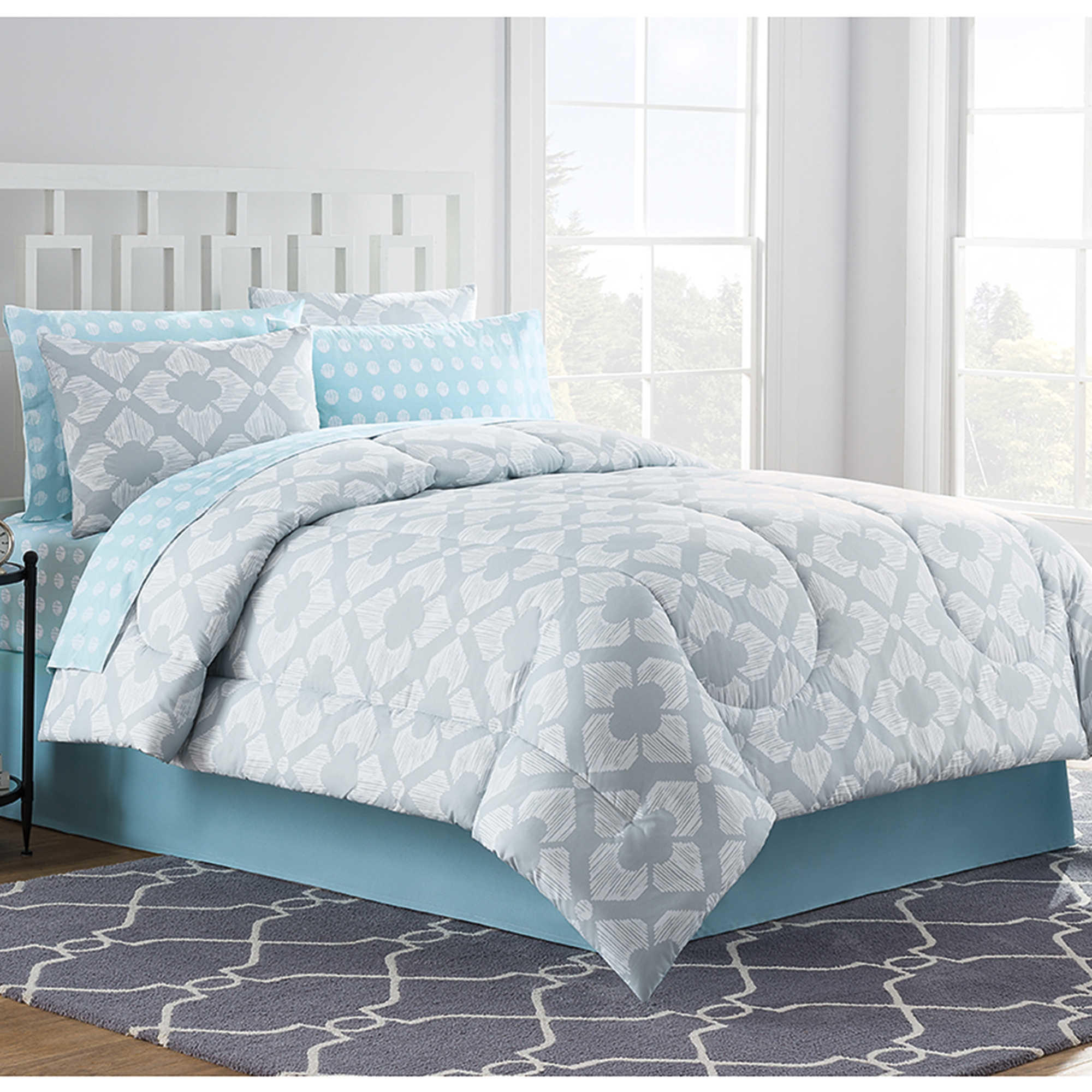 Gray Bedding At Bed Bath And Beyond : Chandra comforter set in light grey from bed bath beyond