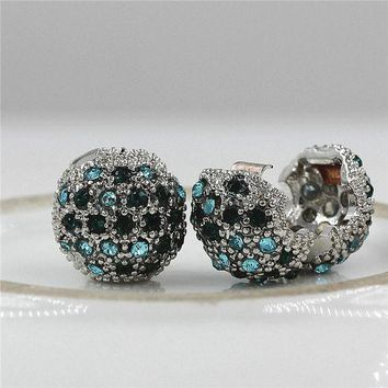ac spbest Fits Pandora Charms Bracelet Safety Beads Clip Stopper Crystal European Silver Plated Charm DIY Jewelry Making Accessories