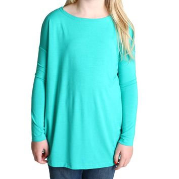 Light Green Piko Kids Long Sleeve Top