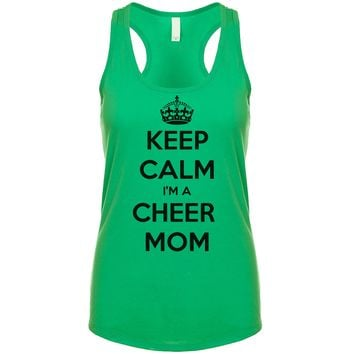 Keep Calm I'm A Cheer Mom  Women's Tank