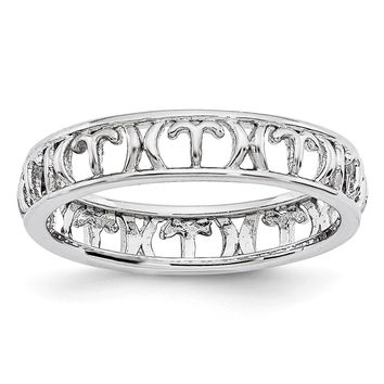 4mm Sterling Silver Stackable Expressions Aries Zodiac Ring