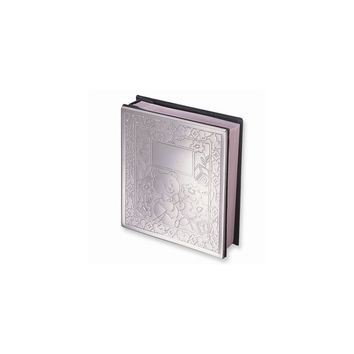Chrome-plated Baby Holds Photo Album - Engravable Personalized Gift Item