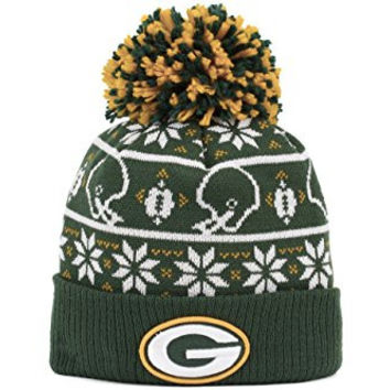 "Green Bay Packers New Era NFL ""Sweater Chill"" Cuffed Knit Hat w/ Pom"