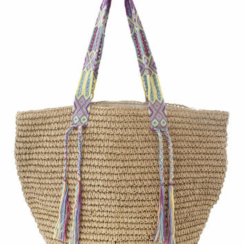 Woven Beach Bag - Rainbow