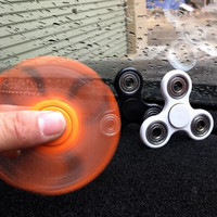 Spinner Fidget Toy (UPGRADED CONCAVE CAPS) EDC ADHD Focus Durable High Speed Si3N4 Hybrid Ceramic Bearing 1-3 Min Spins Non-3D