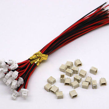 60 SETS Mini Micro SH 1.0 2-Pin JST Connector with Wires Cables 100MM
