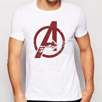 2017 Hot Sales Marvel's The Avengers Men t shirt Short Sleeves Avengers Symbol Logo Printed Male Tops Letter Hispter tee shirts