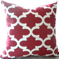 Christmas red pillow cover, red trellis, decorative pillow cover, All sizes