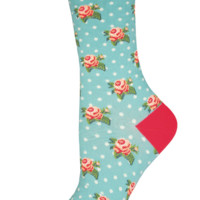 Socksmith Romantic Roses Mist Socks