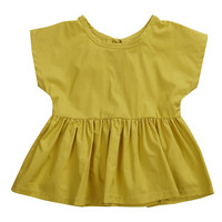 New Fashion Yellow Color Clothes Toddler Infant Baby Girls Summer Princess Dress Party Wedding Pageant Dresses 0-24M