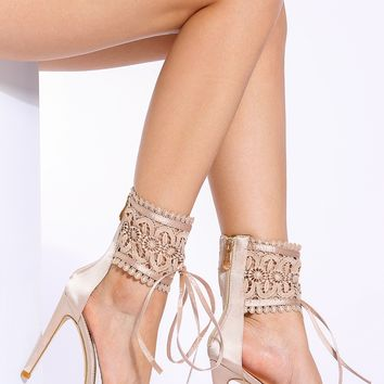 Champagne Satin Ankle Strap Single Sole Heels @ Cicihot Heel Shoes online store sales:Stiletto Heel Shoes,High Heel Pumps,Womens High Heel Shoes,Prom Shoes,Summer Shoes,Spring Shoes,Spool Heel,Womens Dress Shoes